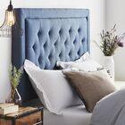 Felicienne Upholstered Panel Headboard Size: Full, Upholstery: Navy