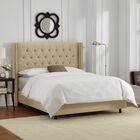 Davina Upholstered Panel Bed Size: Queen, Color: Sandstone