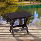 Hamptonburgh Essential Folding Side Table Top Color: Black