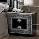 Albury 2 Drawer Nightstand Color: Black/Silver