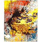 One-of-a-Kind Dunnock Hand Knotted Wool Yellow/Red Area Rug