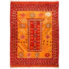 One-of-a-Kind Heiman Hand Knotted Wool Orange Area Rug