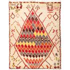 One-of-a-Kind Heiman Hand Knotted Wool Cream/Red Area Rug