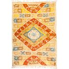One-of-a-Kind Heiman Hand Knotted Wool Yellow/Orange Area Rug