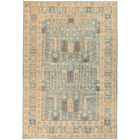 One-of-a-Kind Heimbach Hand Knotted Wool Blue Area Rug