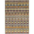 One-of-a-Kind Tyrianne Hand-Knotted Wool Yellow/Blue Indoor Area Rug
