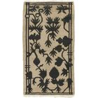 One-of-a-Kind Dionne Hand-Knotted Wool Beige/Black Indoor Area Rug