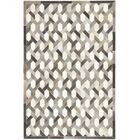 One-of-a-Kind Dixon Hand-Woven Cowhide Gray/Ivory Indoor Area Rug