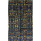 One-of-a-Kind Doyle-Ward Hand-Knotted Silk Blue/Yellow Indoor Area Rug