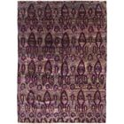 One-of-a-Kind Adlam Hand-Knotted Silk Purple Indoor Area Rug