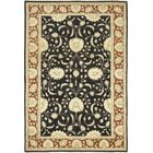 One-of-a-Kind Corrado Hand-Knotted Wool Black/Beige Indoor Area Rug