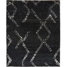 One-of-a-Kind Chelmsford Hand-Knotted Wool Black Indoor Area Rug