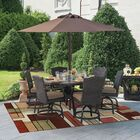 Ambrose Gold/Green Indoor/Outdoor Area Rug Rug Size: Rectangle 5'3