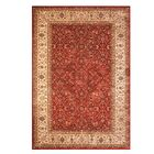 Hastings Beige/Red Indoor Area Rug Rug Size: 5'3