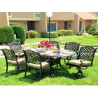 Beadle Oval 7 Piece Dining Set with Cushions