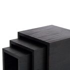3 Piece Nesting Tables Color: Oak
