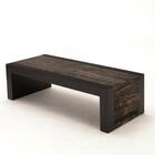 Coffee Table Edge Color: Bamboo - Ebony, Base Color: Ant Hive - White