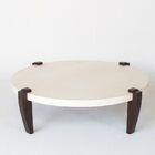 Coffee Table Leg Color: Bamboo - Bleached, Base Color: Parchment - Natural
