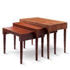 Leather 3 Piece Nesting Tables Color: Plain Cream