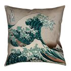 Raritan The Great Wave Square Outdoor Throw Pillow Size: 18
