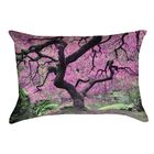 Ghost Train Japanese Maple Tree Outdoor Lumbar Pillow Color: Pink
