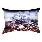 Clair Japanese Cherry Trees Rectangular Lumbar Pillow Color: Blue/Red