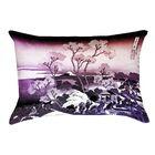 Clair Japanese Cherry Trees Linen Pillow Cover Color: Orange/Purple