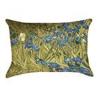 Bristol Woods Irises Waterproof Lumbar Pillow Color: Yellow/Blue