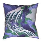 Yasmina Square Horse and Waterfall Linen Pillow Cover Size: 18