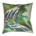 Green Horse and Waterfall Indoor/Outdoor Lumbar Pillow Size: 20
