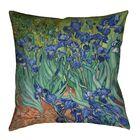 Morley Irises Square Floor Pillow Size: 36