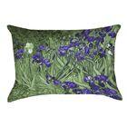 Morley Irises Rectangular Lumbar Pillow Color: Green/Purple