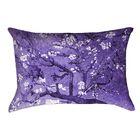 Lei Almond Blossom Rectangular Lumbar Pillow Color: Purple