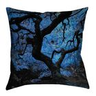 Tusarora Blue Japanese Maple Tree Throw Pillow