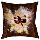 Hansard Watercolor Dragonfly Square Cotton Pillow Cover Size: 16