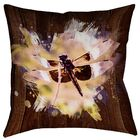 Hansard Watercolor Dragonfly Square Pillow Cover Size: 26