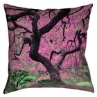 Ghost Train Japanese Maple Tree 100% Cotton Throw Pillow Size: 18
