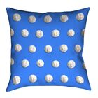 Volleyball Throw Pillow Color: Blue