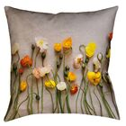 Tuyen Dried Flowers Double Sided Print Square Pillow Cover with Down Alternative Size: 20