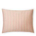 Graydon Bold Stripe Sham Color: Dune/Nantucket Red, Size: King