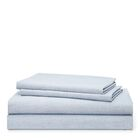 Graydon 212 Thread Count 100% Cotton Sheet Set Color: Chambray, Size: King