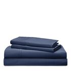 Spencer Solid 475 Thread Count 100% Cotton Sheet Set Color: Navy, Size: King