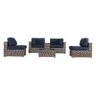 Lue 6 Piece Sunbrella Sectional Set with Cushions