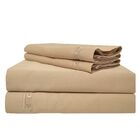 Premium 600 Thread Count Egyptian Quality Cotton Sheet Set Color: Beige, Size: Queen
