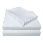4 Piece 400 Thread Count 100% Cotton Sheet Set Color: White, Size: California King