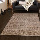 Azaria Hand-Woven Brown Area Rug Rug Size: Rectangle 5' x 8'