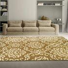 Macias Fleur De Lis Gold Area Rug Rug Size: Rectangle 8' x 10'