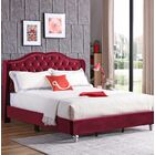 Colbourne Upholstered Panel Bed Size: Full/Double, Color: Cherry