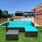Courson 5 Piece Rattan Sofa Seating Group with Cushions