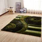 Kleiber Modern Shaggy 3D Green Area Rug
